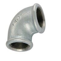GF90-12-14 1/2x1/4inch BSP George Fisher Reducing 90° Elbows, Fig. 90 - Galvanised