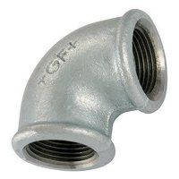 GF90-1 1inch BSP George Fisher Equal 90° Elbows, Fig. 90 - Galvanised