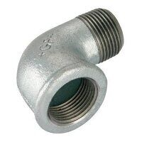 GF92-112 1.1/2inch BSP George Fisher Equal 90° Elbows, Fig. 92 - Galvanised