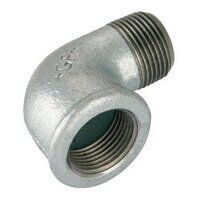 GF92-212 2.1/2inch BSP George Fisher Equal 90° Elbows, Fig. 92 - Galvanised