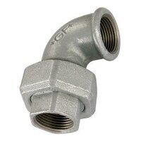 GF96-114 1.1/4inch BSP George Fisher Equal 90° Union Elbows Taper Seat, Fig. 96 - Galvanised