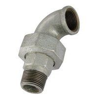 GF98-114 1.1/4inch BSP George Fisher Equal 90° Union Elbows Taper Seat, Fig. 98 - Galvanised