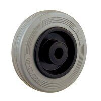BZH200WGR 200mm Grey Rubber Tyre Plastic Centre Wh...