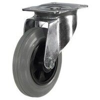 Grey Rubber Tyre Plastic Centre