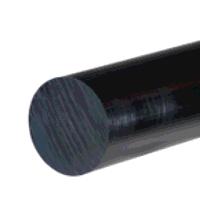 HDPE Rod 130mm dia x 1000mm (Black)
