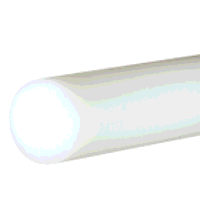 HDPE Rod 25mm dia x 500mm (Natural/White)