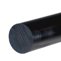 HDPE Rod 75mm dia x 500mm (Black)
