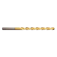 HSCo TiN Coated Worm Pattern Long Series Drills