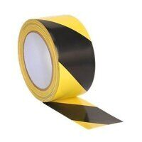 HWTBY Sealey Black/Yellow Hazard Warning Tape (50mm x 33mtr)