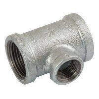 K-MI130-112-1 K-Line 1.1/2x1inch BSPT Unequal Tees, Reducing on Branch, Fig. 161 - Galvanised