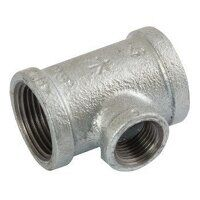 K-MI130-114-12 K-Line 1.1/4x1/2inch BSPT Unequal Tees, Reducing on Branch, Fig. 161 - Galvanised