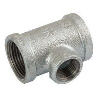 K-MI130-114-1 K-Line 1.1/4x1inch BSPT Unequal Tees, Reducing on Branch, Fig. 161 - Galvanised
