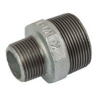 K-MI245-112-114 K-Line 1.1/2x1.1/4inch BSPT Reducing Hexagonal Nipples, Fig. 145 - Galvanised