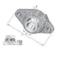 LCJT25 25mm INA 2 Bolt Flanged Bearing