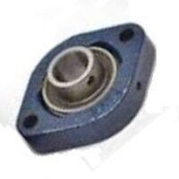 LFTC15EC RHP 15mm 2 Bolt Flanged Bearing (Flat Back Eccentric Locking Collar Insert)
