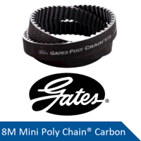 MPCC-8M-248-62 SPL Gates Mini Poly Chain Carbon Ti...