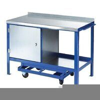 1200x600mm Mobile Workbench - Single Cupboard (1260SCP)
