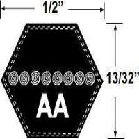 AA91 Hexagonal Mower Drive Belt