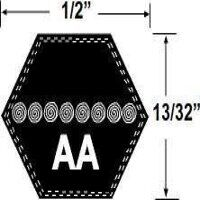 AA128 Hexagonal Mower Drive Belt
