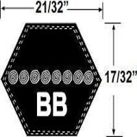 BB126 Hexagonal Mower Drive Belt
