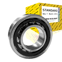 N214E-TVP-C3 Dunlop Cylindrical Roller Bearing 70mm x 125mm x 24mm