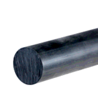 Nylon 6 Rod 200mm dia x 1000mm (Black - Mos2 Lubricated)
