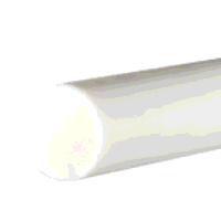 Nylon 6 Rod 45mm dia x 500mm (Natural/White)
