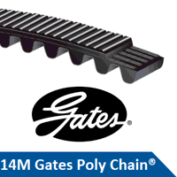 PC2 14MGT-2450-125 Gates Poly Chain Timing Belt  (...