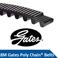 PC2 8MGT-1440-36 Gates Poly Chain Timing...