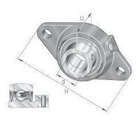 PCFT25 25mm INA 2 Bolt Flanged Bearing