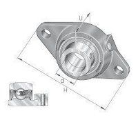 PCFT50 50mm INA 2 Bolt Flanged Bearing