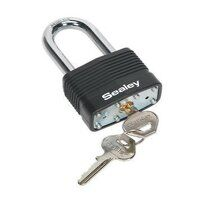 PL302L Sealey 60mm Long Shackle Brass Body Padlock