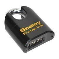 PL603S Sealey 62mm Shrouded Shackle Steel Body Com...