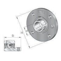 PMEY30 30mm INA 4 Bolt Round Flanged Bearing