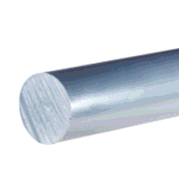 PVC Grey Rod 6mm dia x 500mm