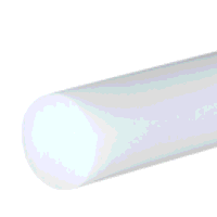 Polypropylene Natural Rod 55mm dia x 250mm