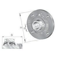 RFE40 40mm INA 4 Bolt Round Flanged Bearing