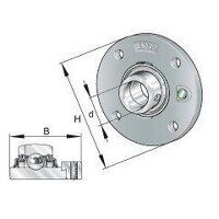 RME25 25mm INA 4 Bolt Round Flanged Bearing