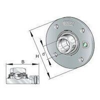 RMEO60 60mm INA 4 Bolt Round Flanged Bearing