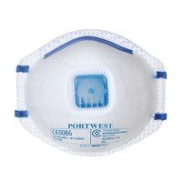 P201WHR Portwest FFP2 Valved Respirator (Pack of 1...