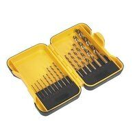 S01087 Sealey 15pc HSS Roll Forged Drill Bit Set