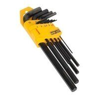 S01091 Sealey Siegen 9pc Long Metric Hex Key Set