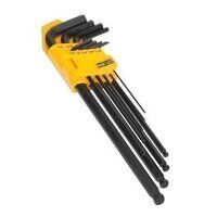 S01099 Sealey Siegen 9pc Extra-Long Imperial Ball-End Hex Key Set