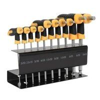 S01150 Sealey Siegen 10pc T-Handle Metric Ball-End Hex Key Set
