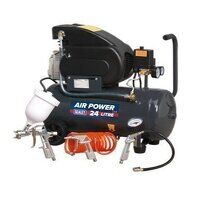 SAC2420EPK Sealey 24ltr Direct Drive 2hp with 4pc Air Accessory Kit Compressor