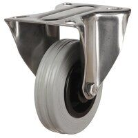 SS100DR8GRB 100mm Stainless Steel Rubber Tyre Cast...
