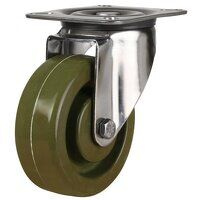 SS100LV4HTG 260 Stainless Steel High Temperature Resistant Castor - Swivel 4 Bolt Hole Unbraked