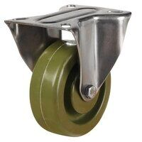 SS100LV8HTG 260 Stainless Steel High Temperature Resistant Castor - Fixed 4 Bolt Hole Unbraked