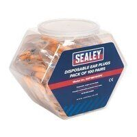 SSP18D100PK Sealey Ear Plugs Disposable ...