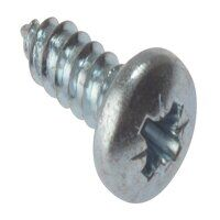 Self-Tapping Screw Pozi Compatible Pan Head ZP 1in x 10 Box 200